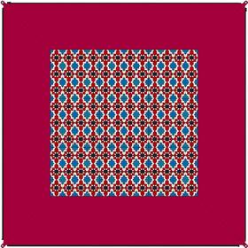 Bent Telttamatto Oriental, red